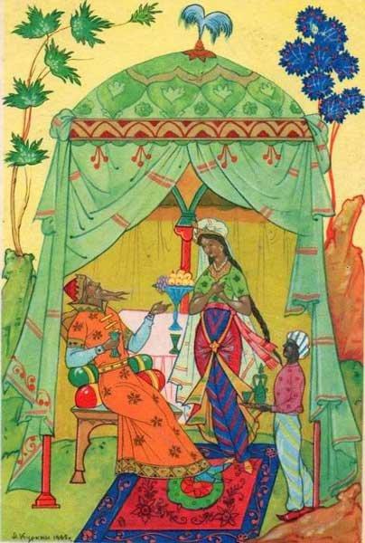 Сказки пушкина шамаханская царица