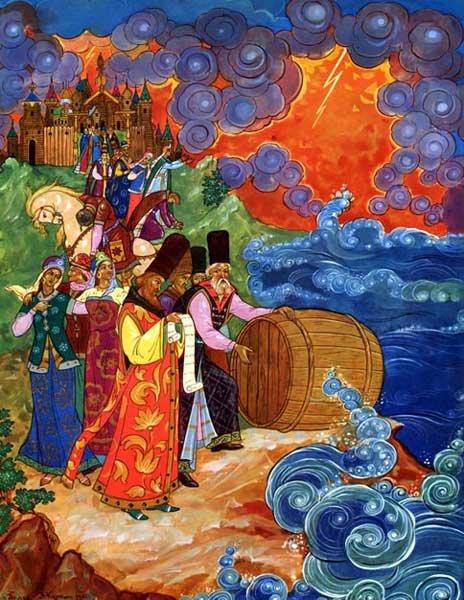 Иллюстрации к сказкам Пушкина