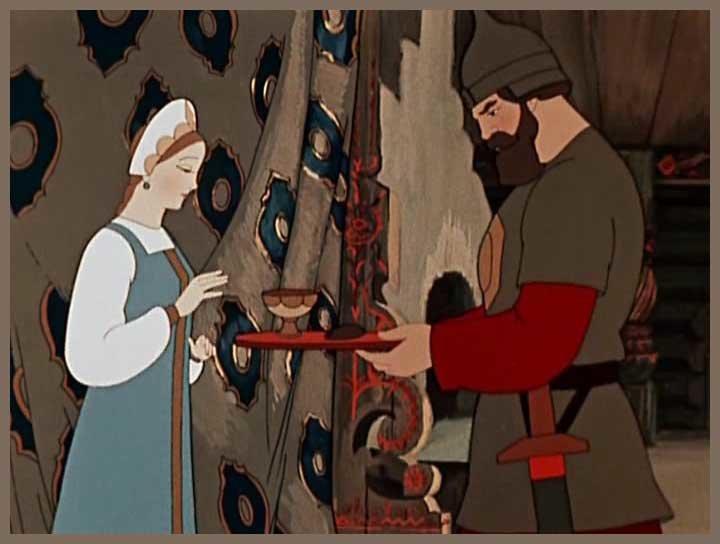 сказка о царевне и семи богатырях читать с картинками